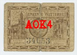 Noodgeld WETTEREN 25 Centiemen Argent De Nécessité Notgeld Duitse Bezetting De Graeve 34653 - [ 3] Occupations Allemandes De La Belgique