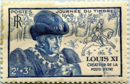 N° Yvert 743 - Timbre De France (1945) - MH - Effigie De Louis XI (1) (DA) - France