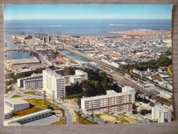 CHERBOURG  (50). VUE AERIENNE GENERALE . ANNÉES 1980 - Cherbourg