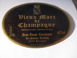 -1 Etiquette---VIEUX-MARC-DE-CHAMPAGNE---40%--NEUVE- - Champagne