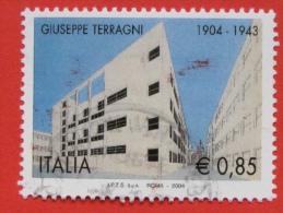 ITALIA USATI 2004 - GIUSEPPE TERRAGNI - SASSONE 2757 - RIF. G 1869 LUSSO - 6. 1946-.. Repubblica