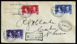 A3592) UK St. Lucia Registered Cover From 05/12/1937 - St.Lucia (...-1978)