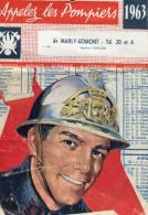 Marly Gomont   Calendrier Des Sapeurs Pompiers 1963 - Calendriers