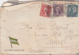 Etats Unis Lettre De 1933 Holland America Line NASM Pour Cahors Lot France - Verenigde Staten