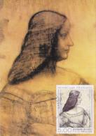 Carte-Maximum FRANCE N° Yvert 2446 (Léonard De VINCI - Isabelle D'Este) Obl Sp Ill 1er Jour Puteaux (Ed Pierron) - 1980-89