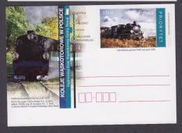 POLAND POLOGNE 2013 Gauge Railways In Poland - Steam Locomotive Px48 - Stamped Stationery