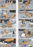 LOT DE 12 IMAGES -PUBLICITE MERCERIE -SOIERIES -L.GOYET -TOURNON SUR RHONE - Vieux Papiers
