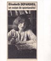 AUTOGRAPHE ELISABETH DEPARDIEU - Autographes