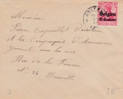 Germany Occupied Belgium: Cover Posted Angles 1918  (G80-49) - Militaria