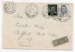 Lettre Par Avion Tchécoslovaquie Pour France 1952 - Svoboda - Batz Sur Mer - Cartas