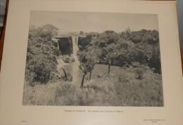Ouganda. Paysage. Une Cascade Aux Environs De Nairobi. Photogravure. 1914. - Uganda