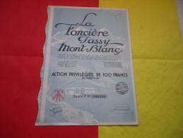 LA FONCIERE PASSY MONT BLANC (1928) Haute Savoie - Unclassified