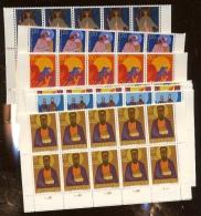 10 Séries **  Evangélistes 12 Valeurs      Faciale 89,50  Francs Suisses - Liechtenstein