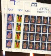 20 Séries **  Evangélistes 12 Valeurs      Faciale 179  Francs Suisses En Petites Feuilles - Liechtenstein