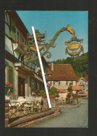 Cpm St000834 Bad Herrenalb Monchs Posthotel , Terrasse Et Enseigne - Bad Herrenalb