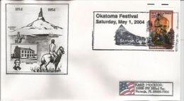 ETATS-UNIS, Chimney Rock (Nebraska) & Indiens Lakota Sioux, Sur  Lettre D'Oklahoma Adressée En Floride - American Indians