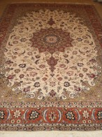 PERSIAN CARPET Persia Precious Tabriz ENTIRELY HAND KNOTTED 310X210 QUALITY 'EXTRA FINE WOOL + SILK - Tapis & Tapisserie