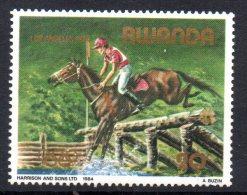 RWANDA - 1984 - LOS ANGELES 1984 - EQUITATION - HORSE BACK RIDING - - Rwanda