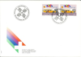 Suisse Lettre De 1987 * Schweizer Mustermesse 1987 MUBAPHIL - BASEL * - Marcophilie