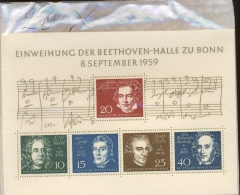 20 X Musique  Beethoven Halle  1959 Coté 50 E = 1000 Euros  Haynd Mendelsohn  Spöhr  Händel - [7] Federal Republic