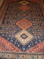 PERSIAN CARPET ORIGINAL PERSIA ENTIRELY HAND KNOTTED WOOL ON WOOL 100% - QUALITY 'EXTRA FINE COLOURS PLANTS - Rugs, Carpets & Tapestry