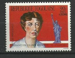 "Togo Aerien YT 511A (PA 511A) "" Eleanor Roosevelt "" 1984 Neuf ** - Togo (1960-...)"
