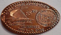 1 CENTMilwaukke Elongated Coins  Pennies USA - Elongated Coins