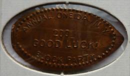 1 CENT Good Luck  Elongated Coins  Pennies USA - Elongated Coins