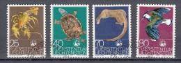Liechtenstein 1976 Mi Nr  644 - 617 Natuur: Krab, Turtle, Otter, Lapwing - Gebraucht