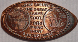 1 CENT Lakes State   Elongated Coins  Pennies USA - Elongated Coins
