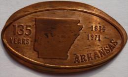 1 CENT Arkansas 135 Elongated Coins  Pennies USA - Elongated Coins