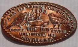 1 CENT Baltimore Elongated Coins  Pennies USA - Elongated Coins