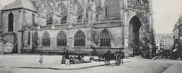 CPA 61 ALANCON Eglise Gothique Notre Dame ( Vendeuse Petit Métiers ) - Alencon