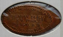 1 CENT PULASKI  Elongated Coins  Pennies USA - Elongated Coins