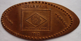 1 CENT  DALAWARE Elongated Coins  Pennies USA - Elongated Coins
