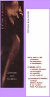 Marque-page °° Blanche éditions - L'érotisme Sans Frontières  5x18 - Marcapáginas