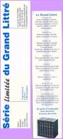 Marque-page °° Le Grand Littré Collector Série Limitée 3.000 Exemplaires 5x21 - Marque-Pages