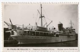 CPA   PALMA DE MALLORCA         MOTONAVE CIUDAD DE PALMA - Boten