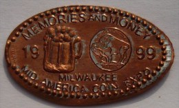 1 CENT Milwaukee  Elongated Coins  Pennies USA - Elongated Coins