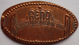 1 CENT RENO  Elongated Coins  Pennies USA - Elongated Coins