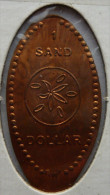 1 CENT Sand Dollar Elongated Coins  Pennies USA - Elongated Coins