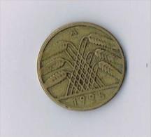 10 - Reichspfennig 1925 A Weimarer Republik - [ 3] 1918-1933 : Republique De Weimar