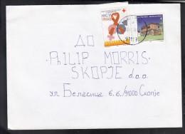 MACEDONIA, 1998, RED CROSS CS 101 AIDS / SKOPJE ## - Macédoine