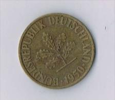 10 Pfennig 1950 - Germany - [ 6] 1949-1990 : RDA - Rép. Démo. Allemande