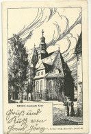 Allemagne Hanau Hesse Cpa Gravure Bois Eglise Française Franzosische Kirche - Hanau