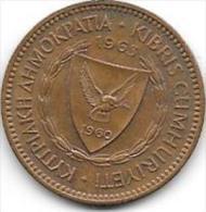 *cyprus 5 Mils 1963  Km 39  Xf+ ( Unc With Spot) - Chypre