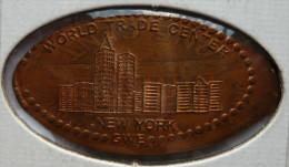 1 CENT New York Mit WORLD TRADE CENTER   Elongated Coins  Pennies USA - Elongated Coins