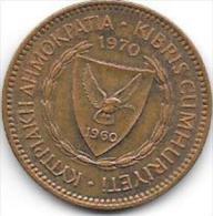 *cyprus 5 Mils 1970  Km 39  Unc - Chypre