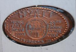1 CENT HYAT  Elongated Coins  Pennies USA - Elongated Coins