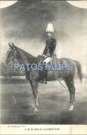 24232 ROYALTY SPAIN ART KING ALFONSO XIII A HORSE  POSTAL POSTCARD - Familles Royales